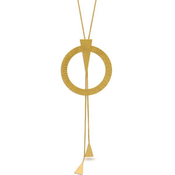 chunky pendant gold necklace