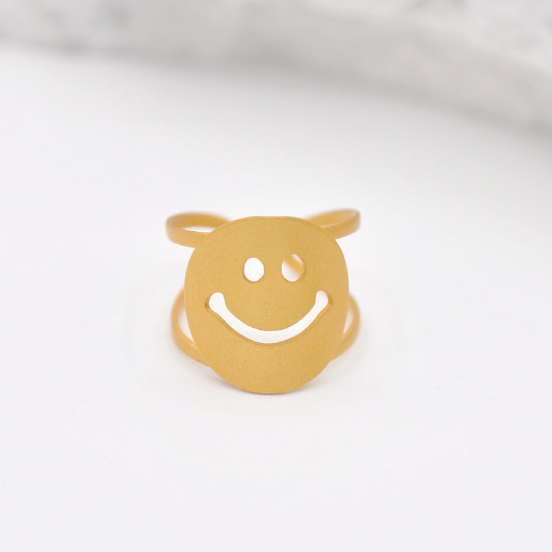 Gold Smiley Face Ring
