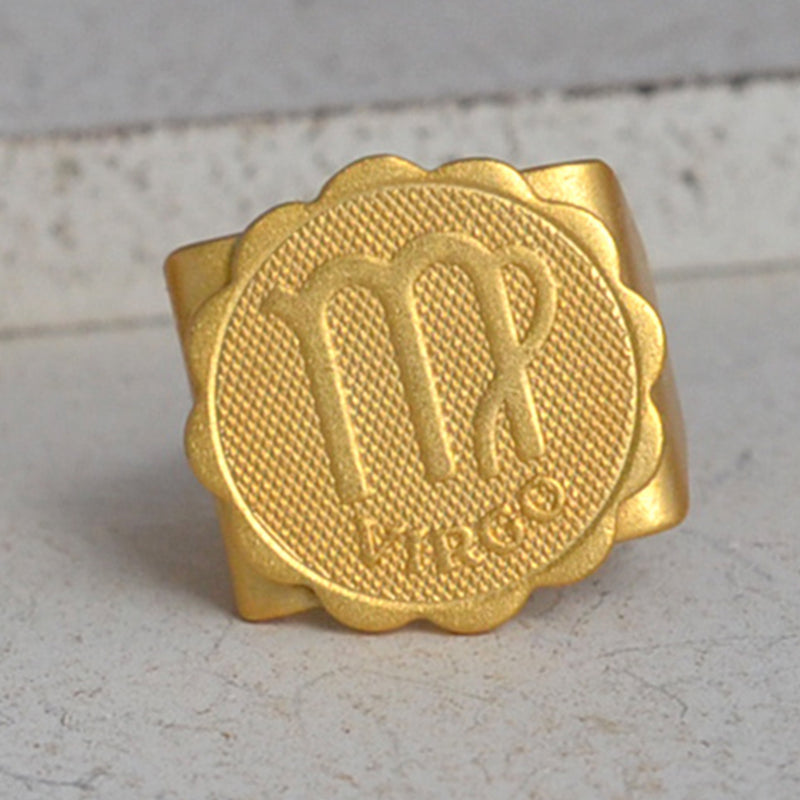 Gold virgo ring