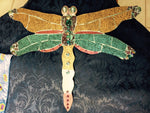 Glitter Flittery Dragonfly 3D Stained Glass Mosaic