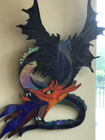 Jake, the Fiery Dragon-3D Stained Glass-Custom Order-handmade by artist, Kay Gasner