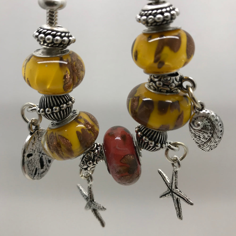 Load image into Gallery viewer, Desert Gold - Glass Bead Charm Bracelet