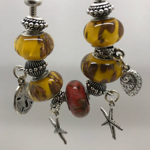 Desert Gold - Glass Bead Charm Bracelet