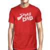 Super Dad Men's Red Graphic Design T Shirt Best