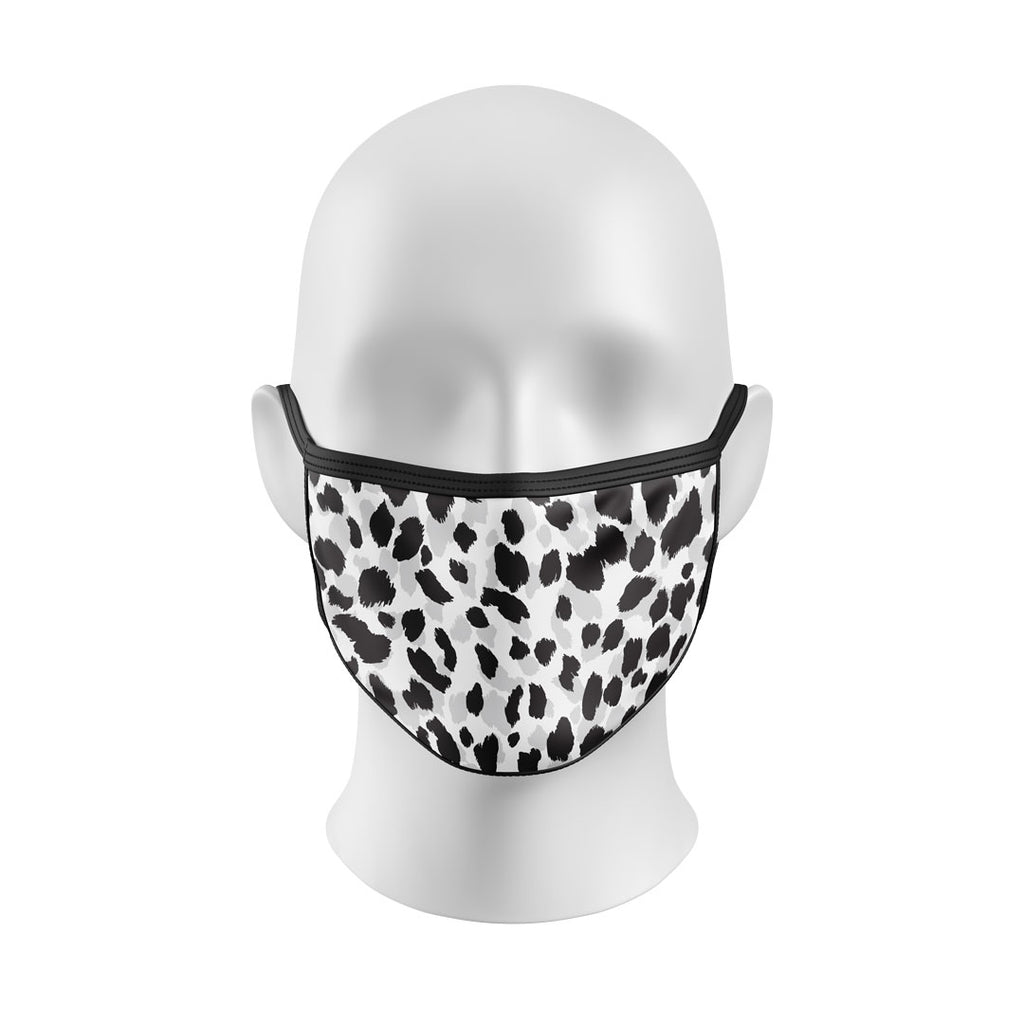 Gray Scale Leopard Print Mask