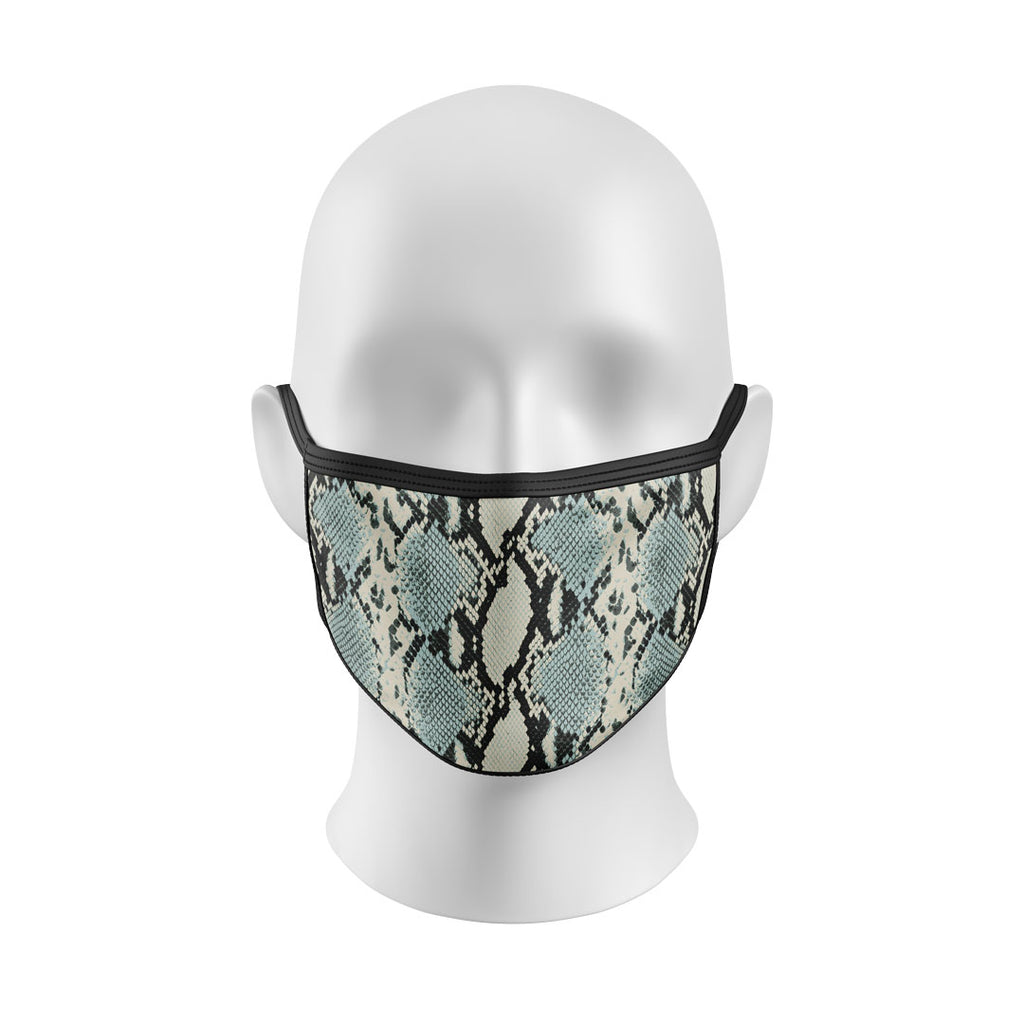 Blue Snakeskin Mask