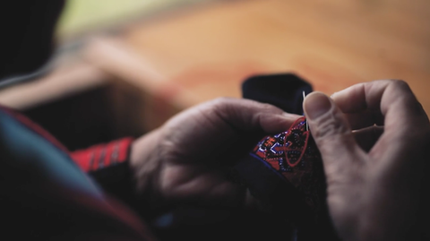 Red Yao embroidery