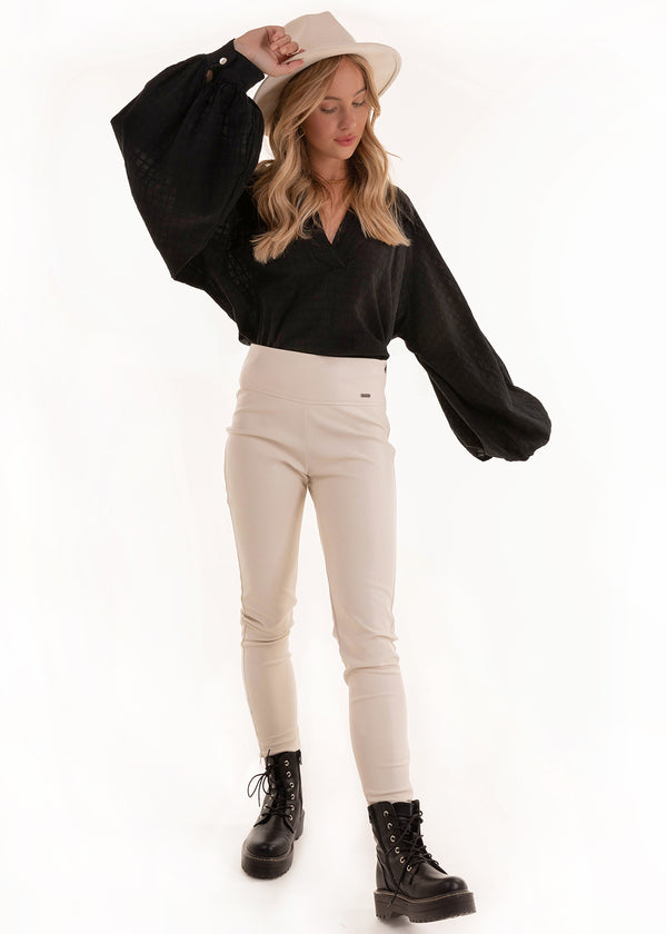AMAZING LEATHER PANTS | WHITE