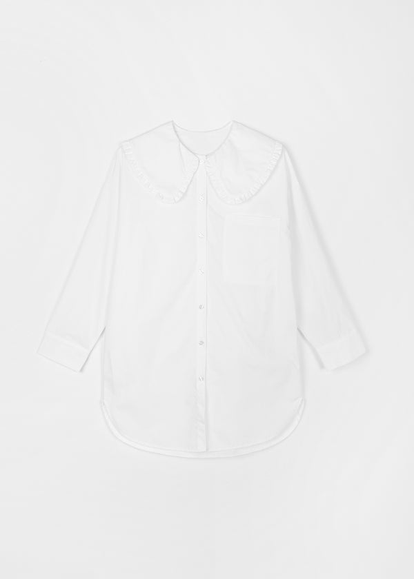 BIG COLLAR SHIRT | WHITE