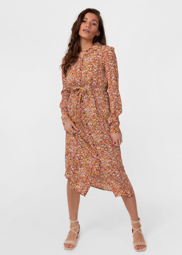 BLOSSOM MIDI SHIRT DRESS