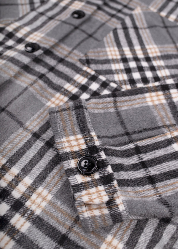 CHECKERED SHIRT | GREY
