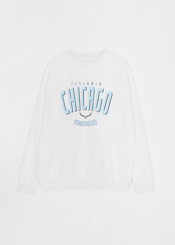 CHICAGO SWEATER | WHITE