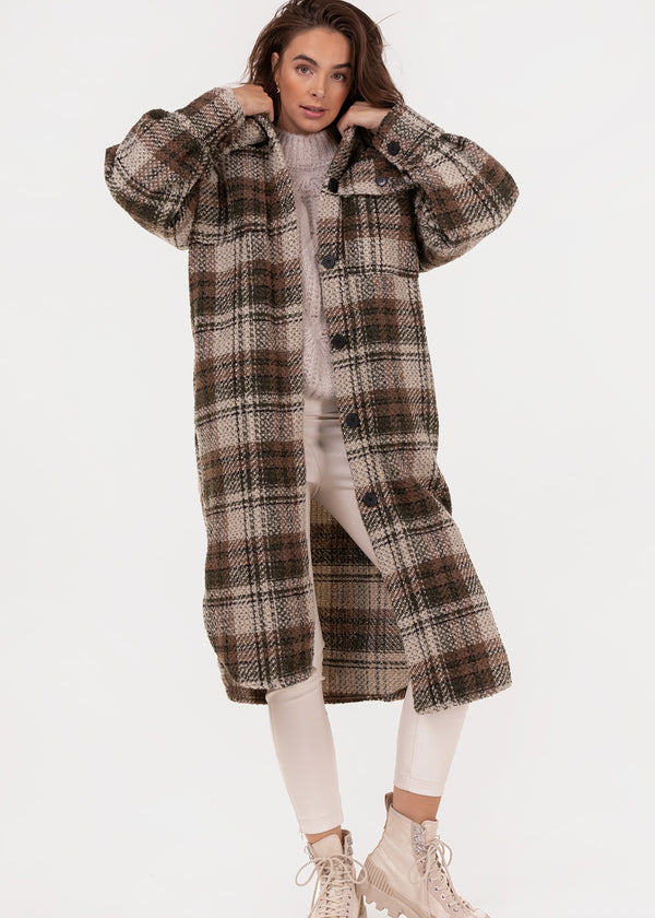 CHUNKY CHECK COAT