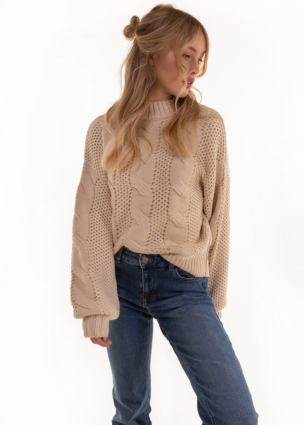 CABLE KNIT |  SAND