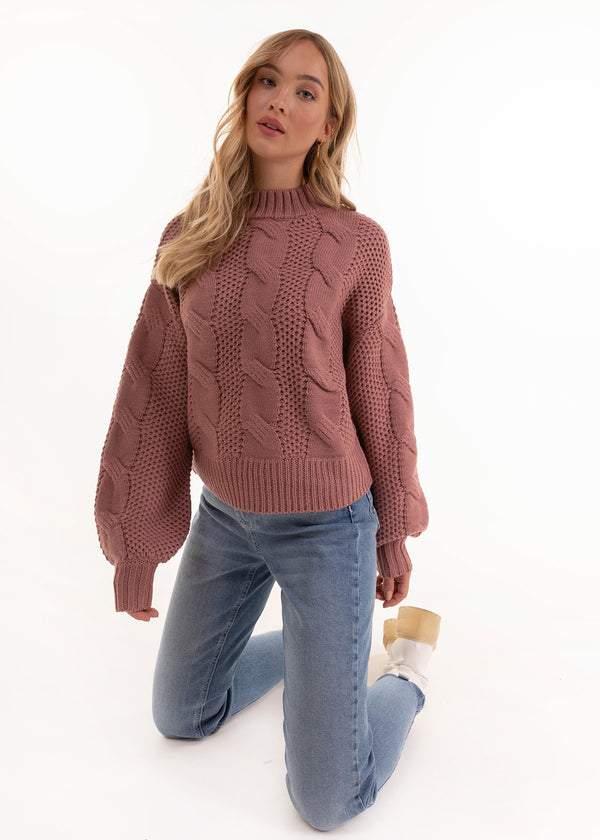 CABLE KNIT | NOSTALGIA ROSE