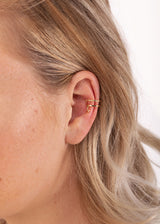 DOUBLE STARS EARCUFF | GOLD