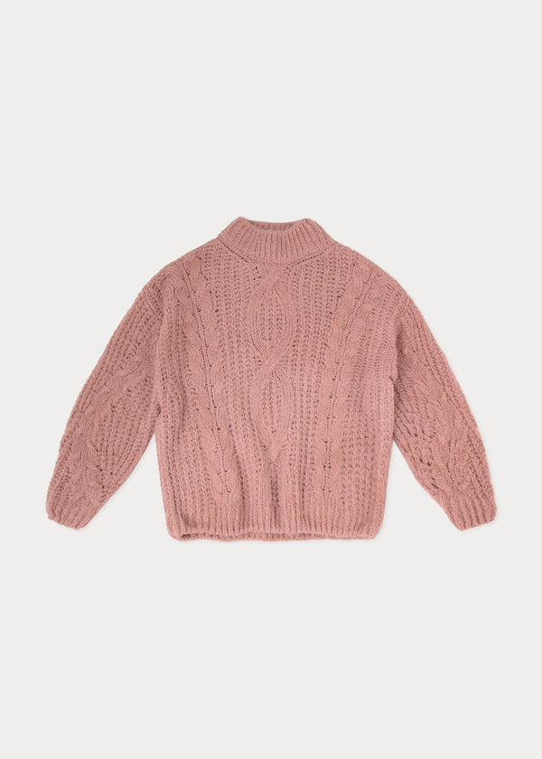 ELLE CABLE KNIT | OLD ROSE
