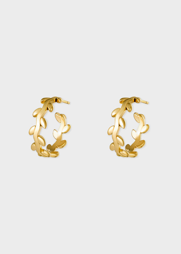 FLOWERY HOOPS | GOLD