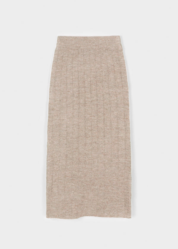 GIA KNIT SKIRT | WARM TAUPE