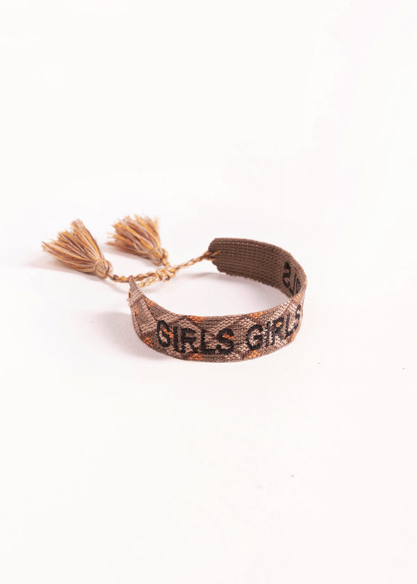 COTTON BRACELET - GIRLS | BROWN