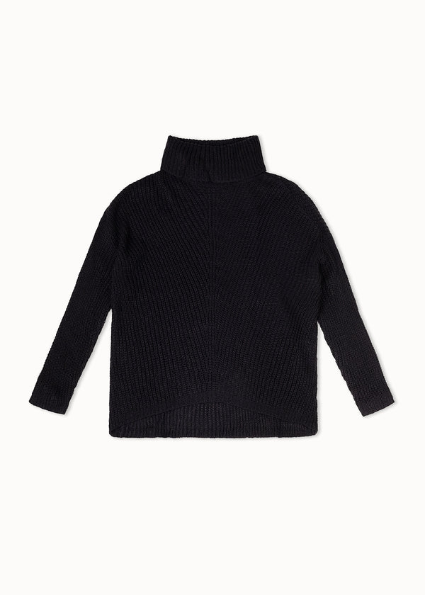 ROLLNECK KNIT | BLACK