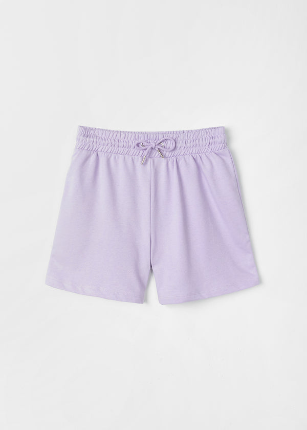 INDI SWEAT SHORT | LILAC