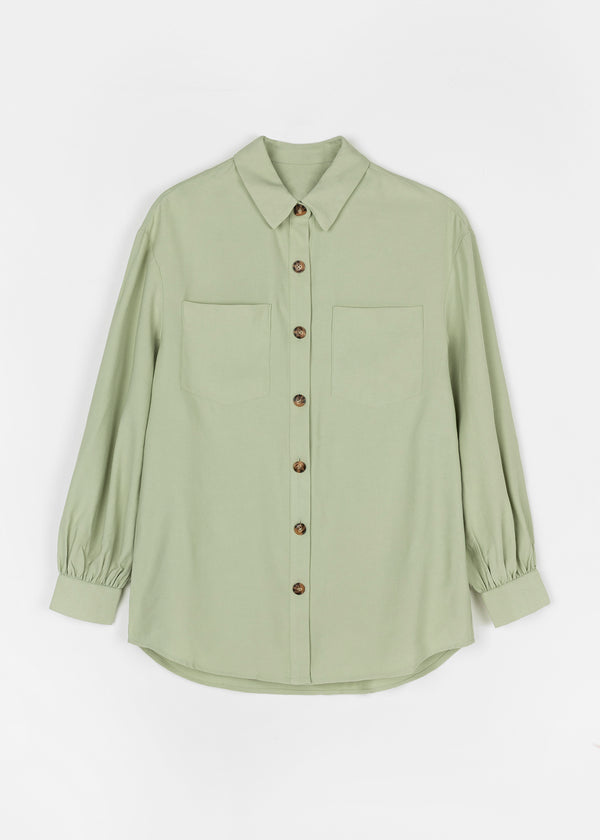 JADA OVERSIZED SHIRT | GREEN