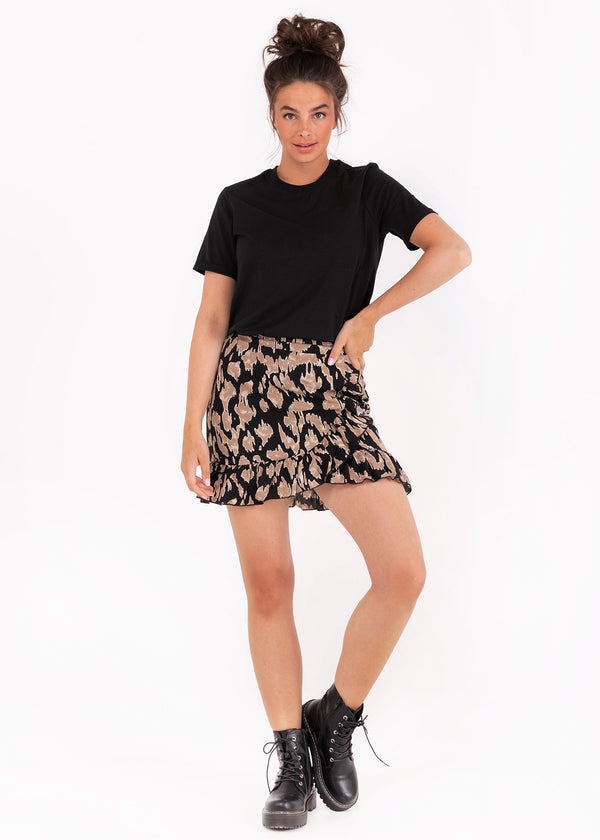 JEEHA SKIRT | BROWN