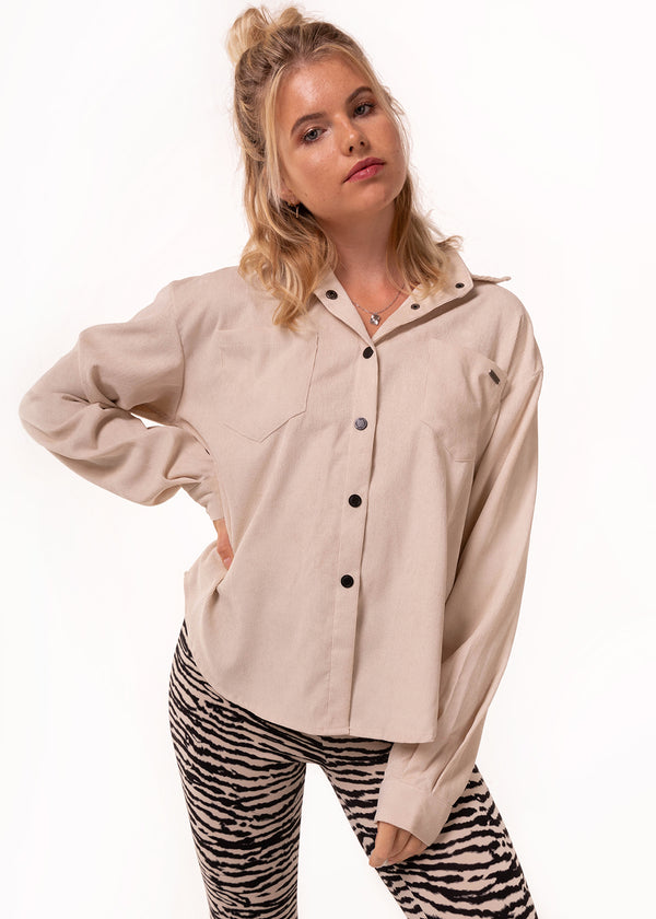 JOY OVERSHIRT | SAND