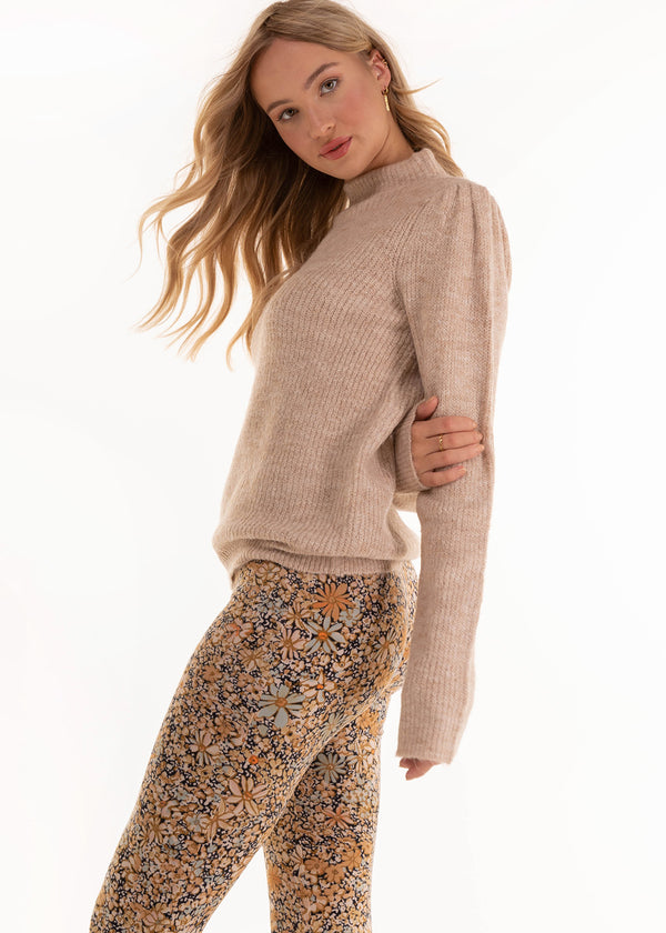 KNITTED PULLOVER | BEIGE
