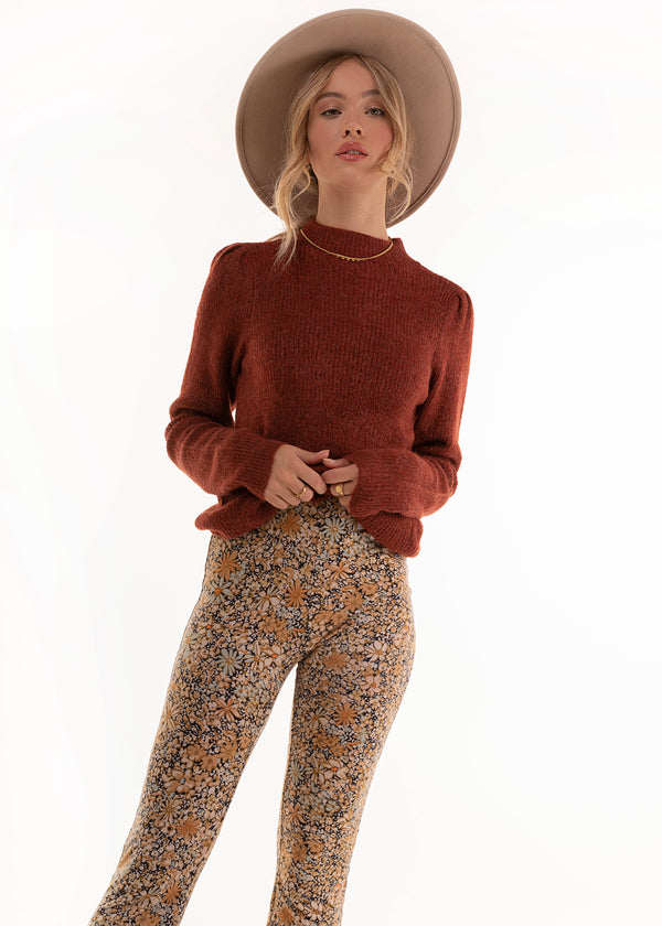 KNITTED PULLOVER | RUSSET BROWN