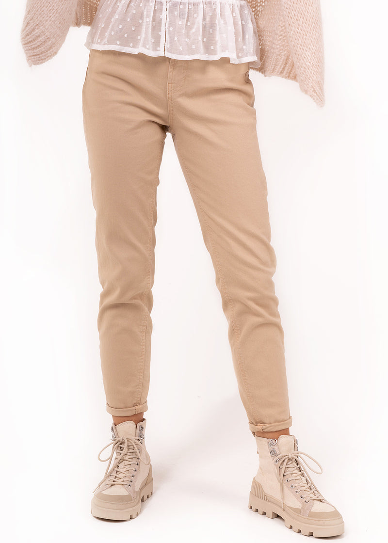 LEAH MOM JEANS | BEIGE