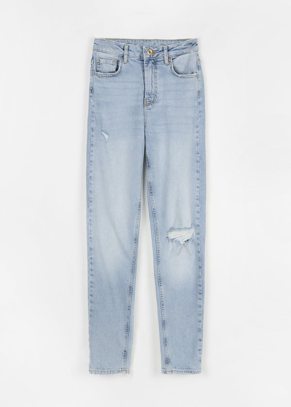 LEAH MOM JEANS | LIGHT DENIM