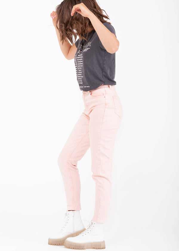 LEAH MOM JEANS | PINK