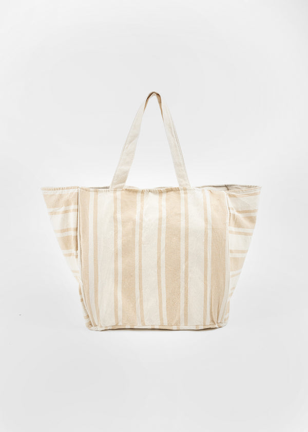 LINA CANVAS SHOPPER | BEIGE