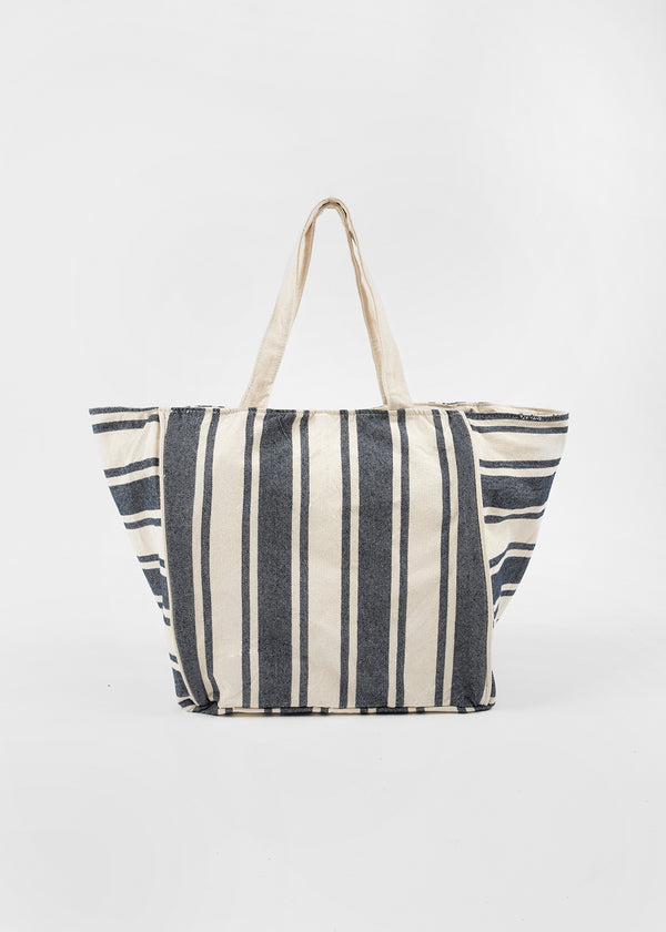 LINA CANVAS SHOPPER | BLUE