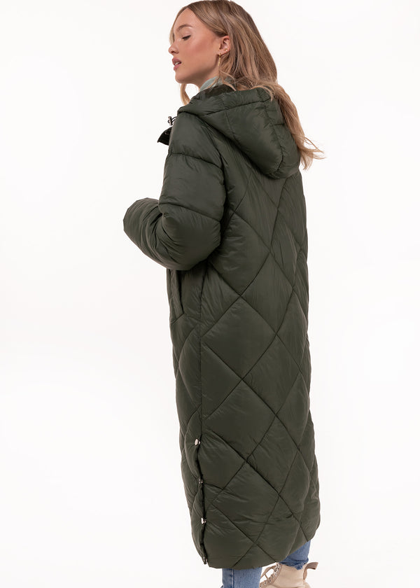 LONG PADDED JACKET | GREEN