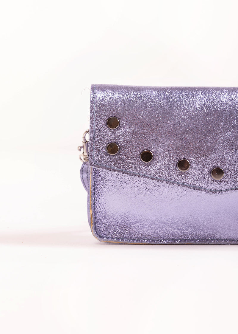 JACKIE STUD | METALLIC PURPLE