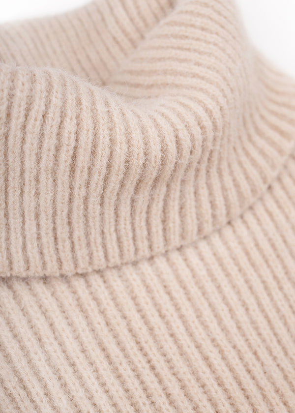 MIDI KNIT DRESS | BEIGE