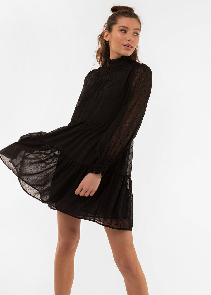 MIDNIGHT SKY DRESS | BLACK