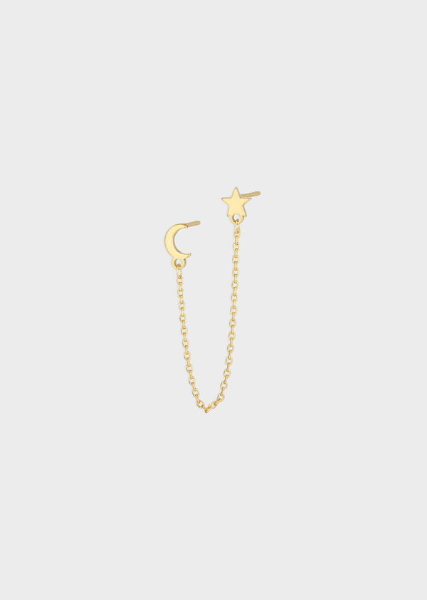 MOON AND STAR EARRING | GOLD