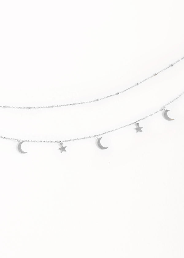 MOON AND STARS | SILVER