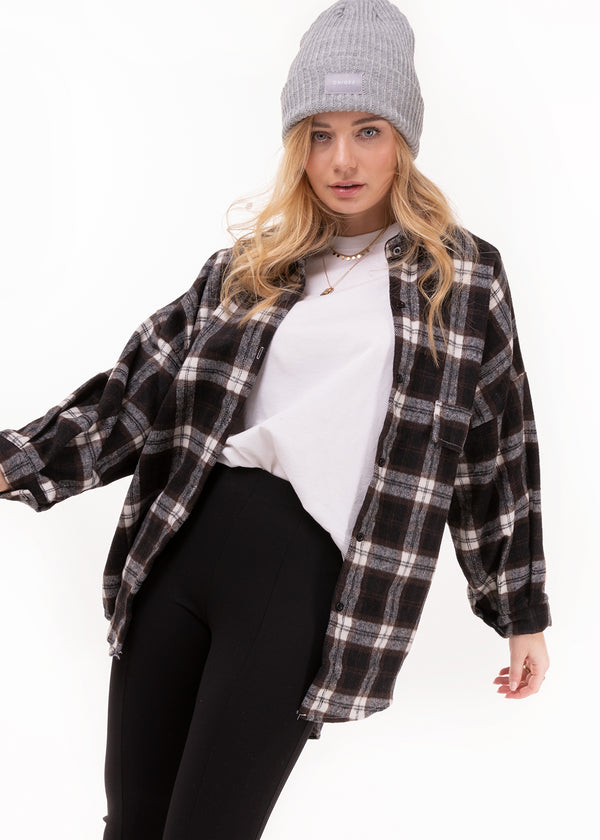 OVERSIZED CHECK | BLACK