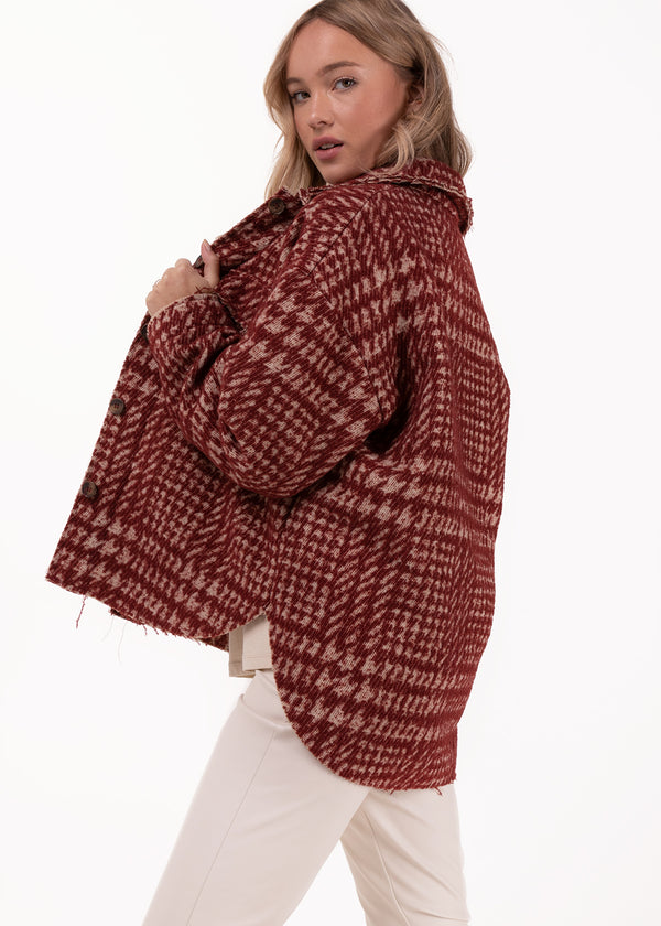 PIED DE JACKET | DARK RED