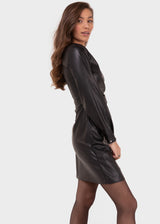 PU BLACK DRESS