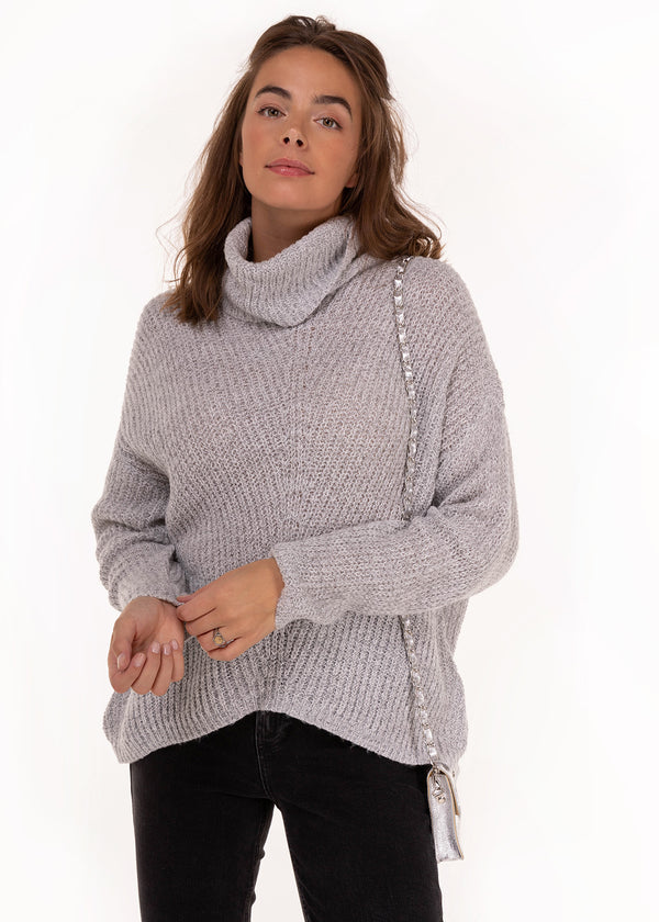 ROLLNECK KNIT | LIGHT GREY