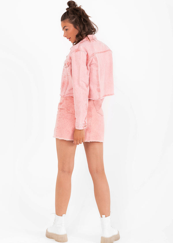 ROSA DENIM JACKET | PINK