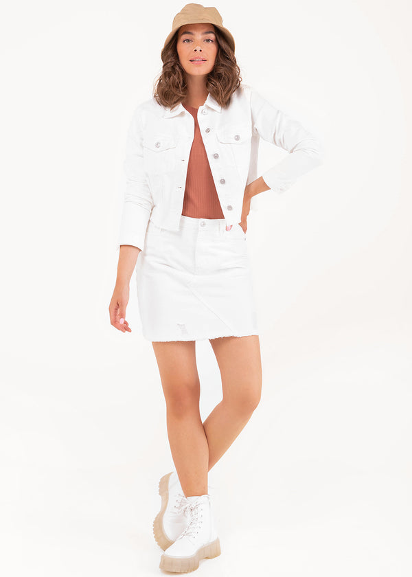 ROSA DENIM JACKET | WHITE
