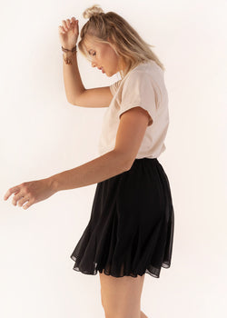 RUFFLE SKIRT | BLACK
