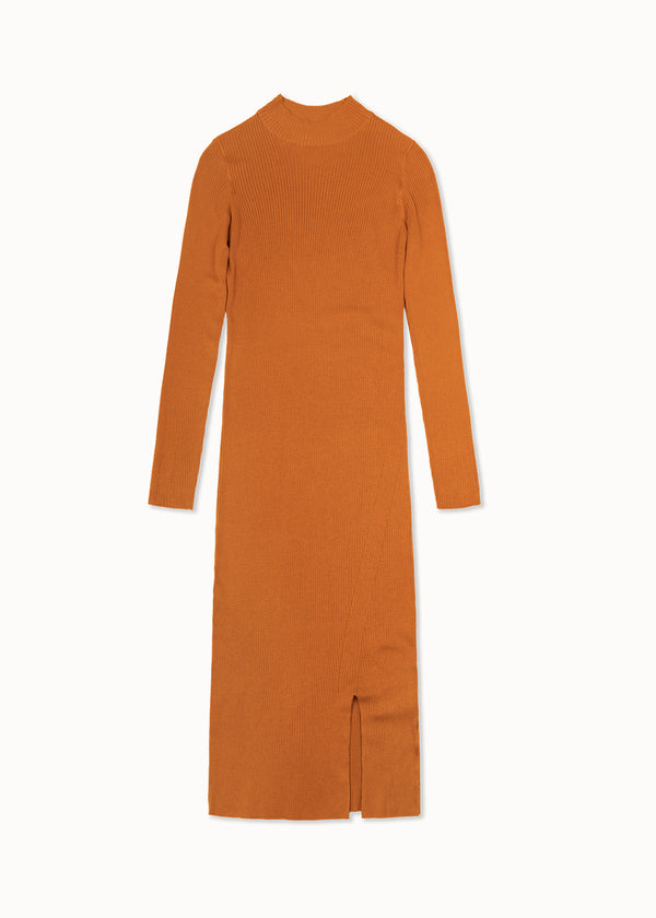 SABINA DRESS | COGNAC